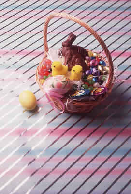 Easter Basket Scene