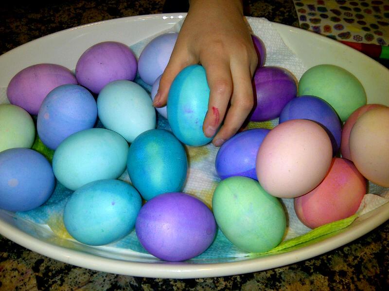 Lancaster - Elisha into egg dying