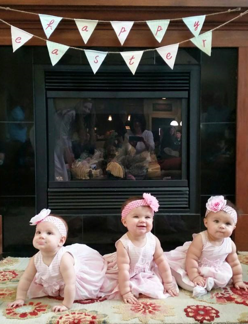Easter Triplets in Pink