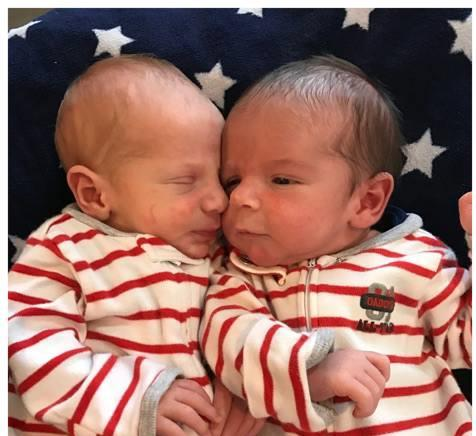 Jake and Alyssa embryo adopted twin boys
