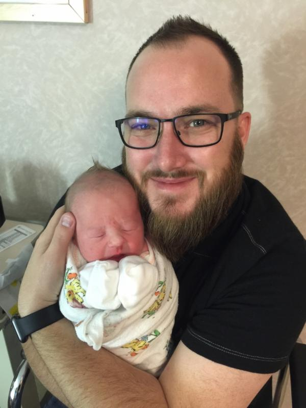 Lincoln Roy with Dad