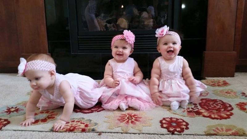 Triplets in Pink